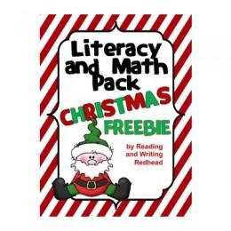 Free Christmas Literacy & Math Pack