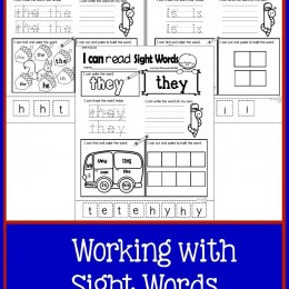 Free Working with Sight Words Worksheets