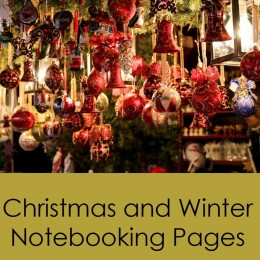 Free Christmas & Winter Notebooking Pages