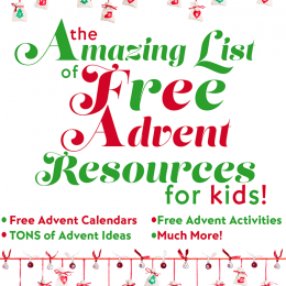 The AMAZING LIST of FREE ADVENT RESOURCES for KIDS!