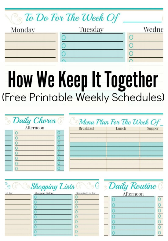 The MEGA List of FREE printable calendars and planners for 2016 – Free Week Calendar Template