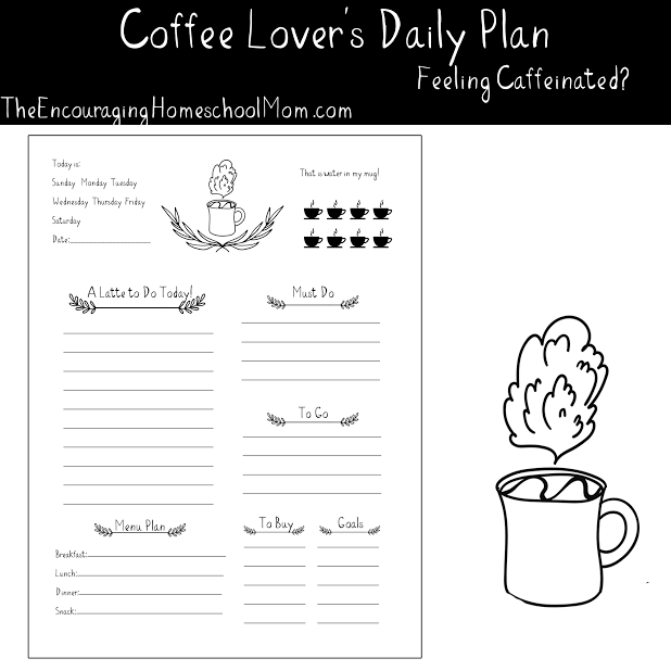 Free Daily Planner for Coffee Lovers