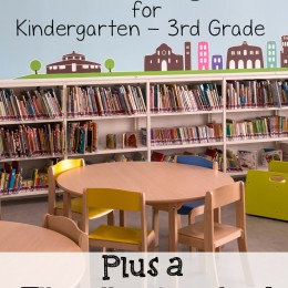 Reading Lists for Kindergarten through 3rd Grade – with a Free Reading Log!