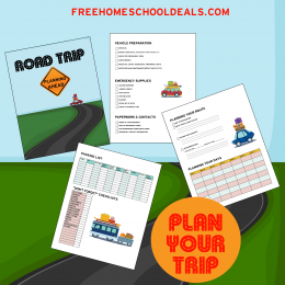 Free Road Trip Planning Pages!