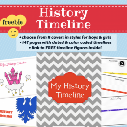 History Freebie: My History Timeline (147-pages!)