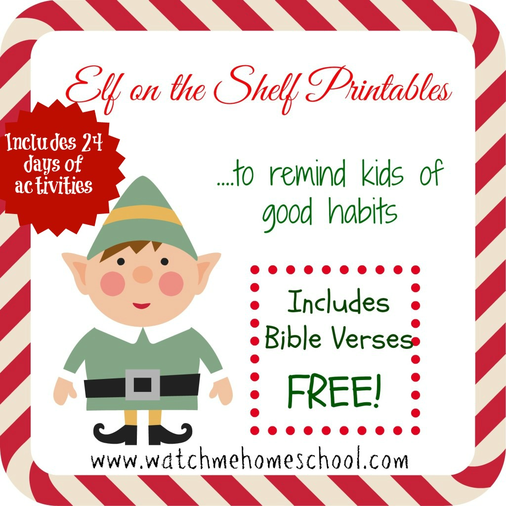 free elf on the shelf printables pdf