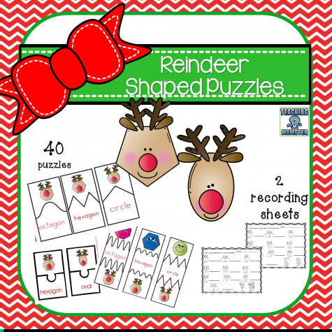 Reindeer Shaped Puzzles