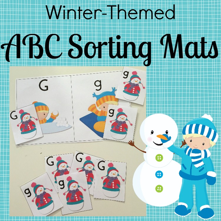 Free Winter Themed Abc Sorting Mats And Cards Free