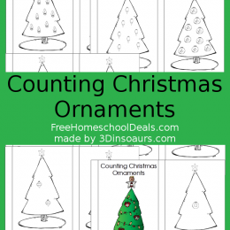 FREE CHRISTMAS COUNTING ORNAMENTS PACK (Free Instant Download)