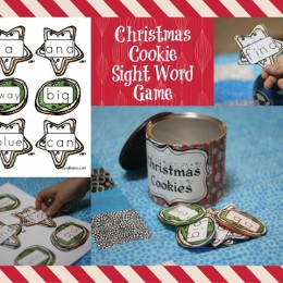 FREE Christmas Cookie Sight Word Game