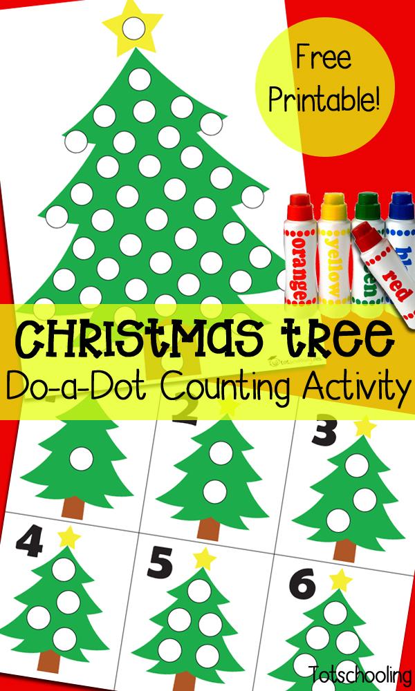 Free Christmas Tree Dot Marker Sheets Free Homeschool