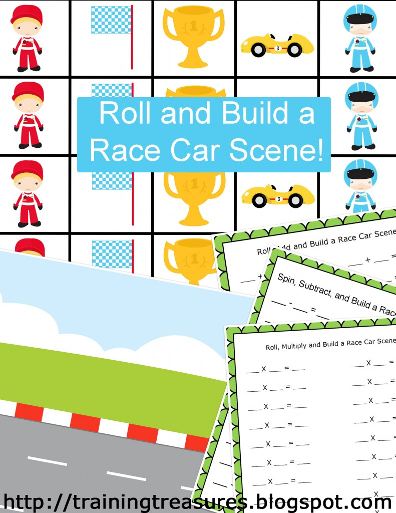 Math Race Car Bundle 58 Pages By Training Treasures Tpt