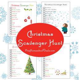 Free Printable: Christmas Scavenger Hunt!