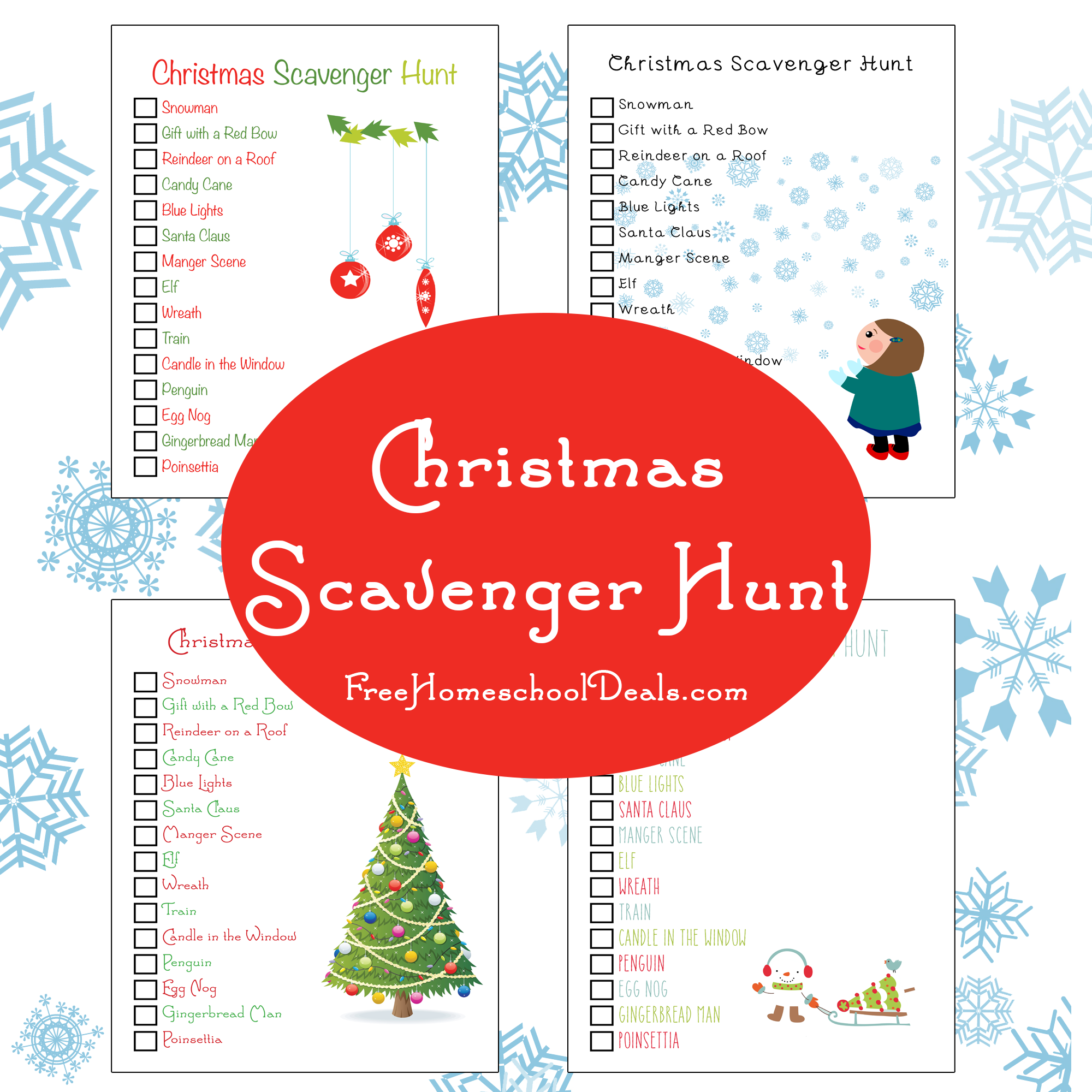 free printable christmas scavenger hunt free homeschool deals. Black Bedroom Furniture Sets. Home Design Ideas