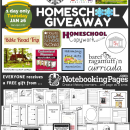 Homeschool Giveaway: Notebooking Pages Lifetime Membership – 25 Winners! TODAY ONLY!