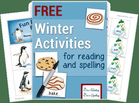 Free Winter Spelling & Reading Practice Activities
