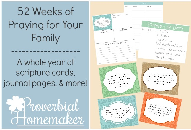 Free 52 Week Family Prayer Plan (90+ Pages!)