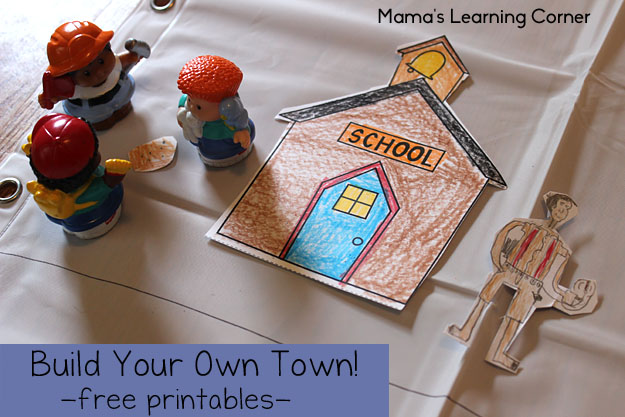 Build Your Own Town - Free Printables