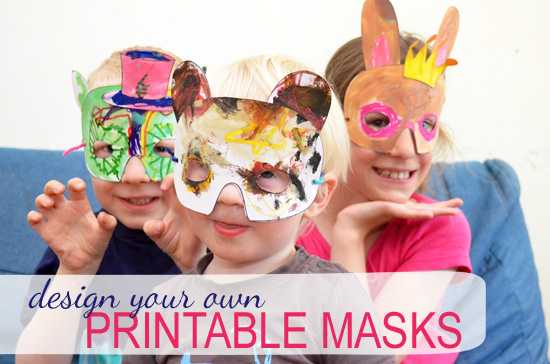 Design Your Own Printable Masks