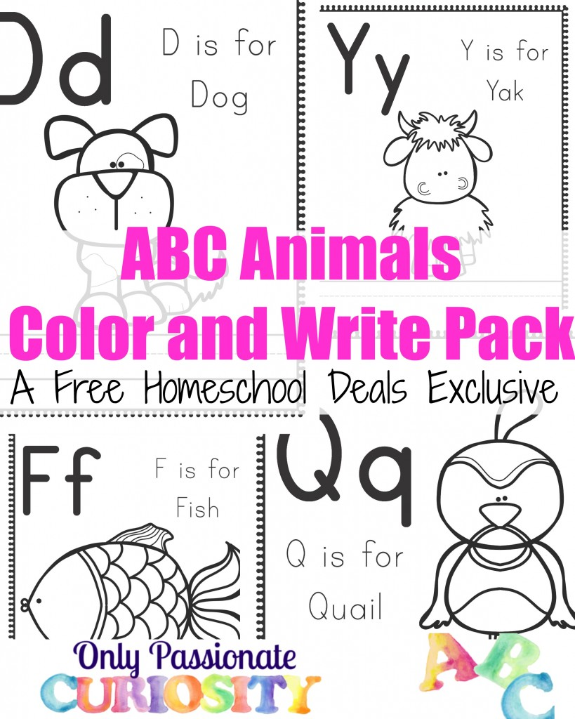 FREE Animal Themed ABC Printables and Crafts
