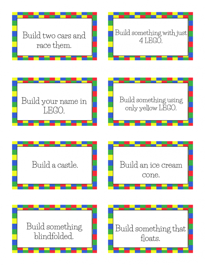 Free Printable LEGO Challenge Cards
