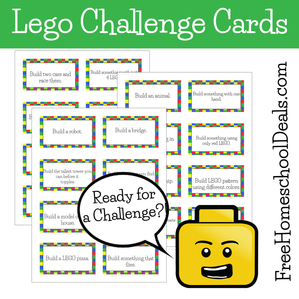 Free Printable LEGO Challenge Cards! | Free Homeschool Deals ©