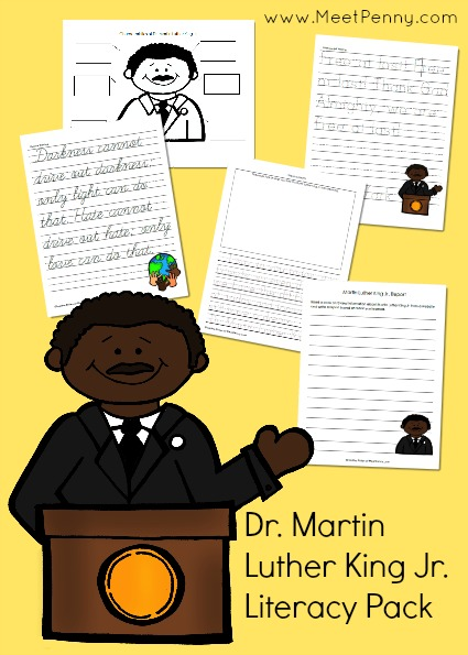 the big list of martin luther king jr homeschool resources dr martin luther king jr literacy packet