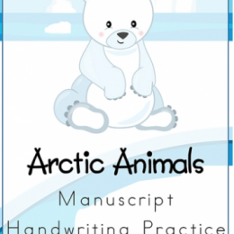 Free Arctic Animals Handwriting Worksheets Download