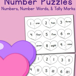 FREE VALENTINE'S HEART NUMBER PUZZLE CARDS (Instant Download!)