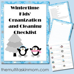 FREE Wintertime Kids Organization and Cleaning Checklist Pack