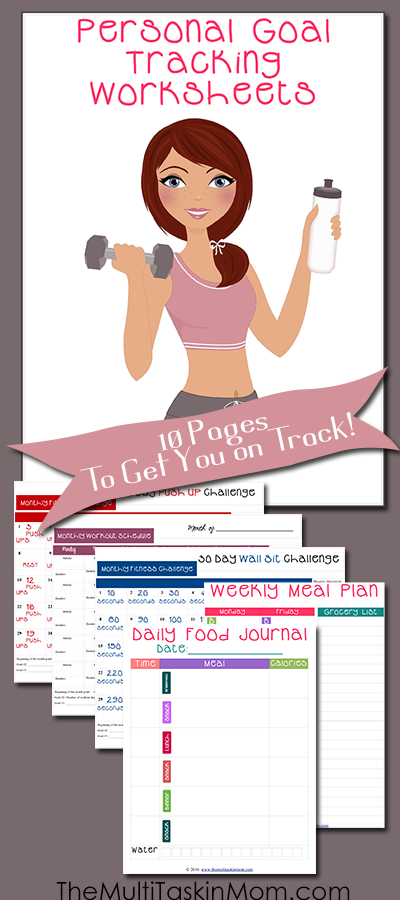FREE Personal Goal Tracking Pack | Free Homeschool Deals