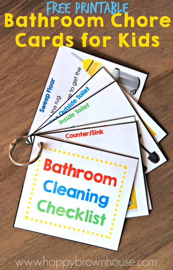 FREE Printable Bathroom Cleaning Checklist | Free ...