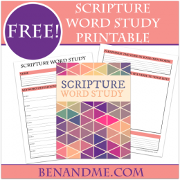 FREE Scripture Word Study