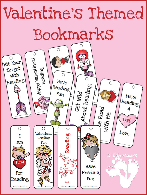 free valentine 39 s day themed bookmarks free homeschool deals. Black Bedroom Furniture Sets. Home Design Ideas