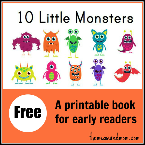 FREE 10 Monsters Early Reader