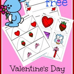 FREE Valentine's Day Scissor Cutting Pages