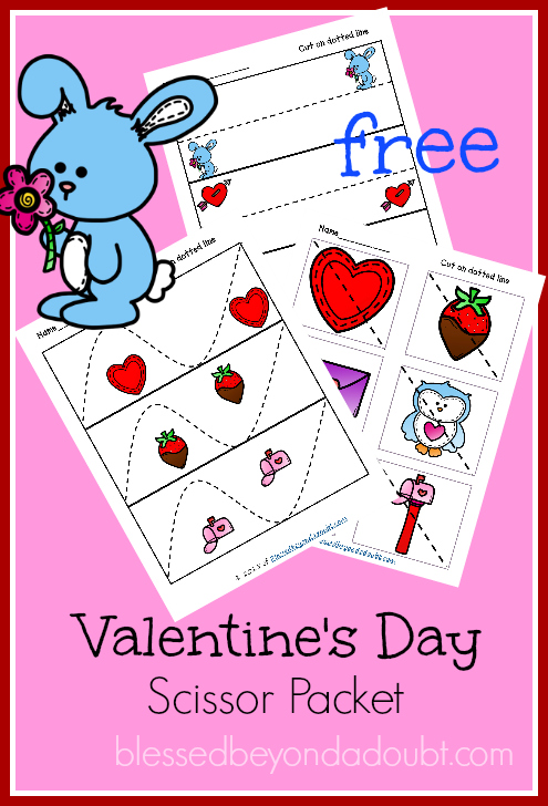 free valentine 39 s day scissor cutting pages free homeschool deals. Black Bedroom Furniture Sets. Home Design Ideas