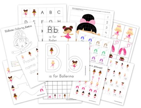 FREE Preschool Ballerina Pack