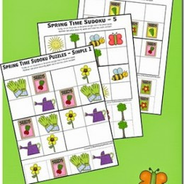FREE SPRING SUDOKU PUZZLES (Instant Download)