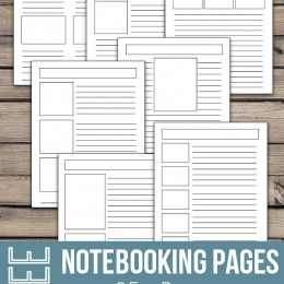 FREE Blank Notebooking Pages (25+)
