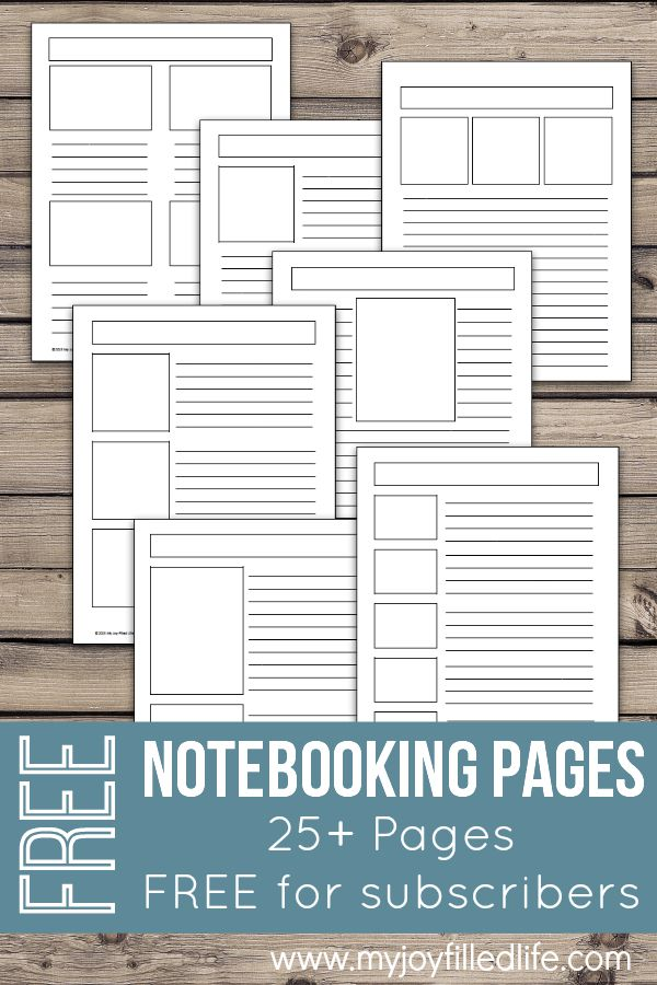 FREE Blank Notebooking Pages (25+) | Free Homeschool Deals