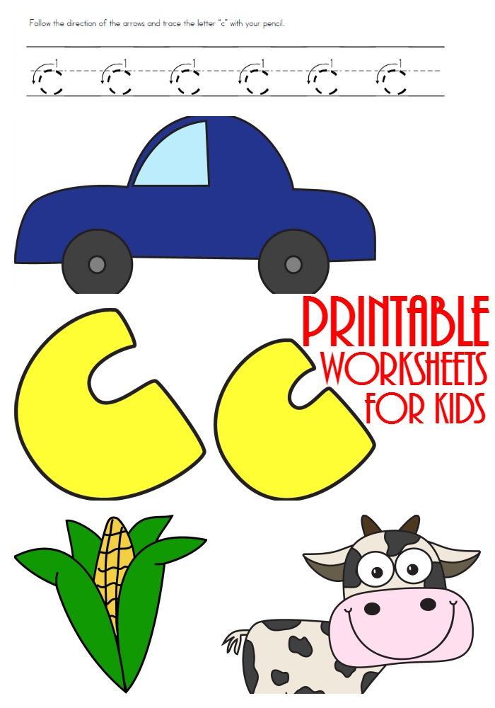 FREE Letter C Printables – Letter C Worksheets