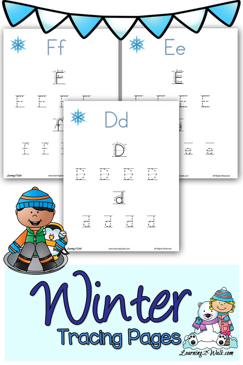 free preschool winter tracing pages free homeschool deals. Black Bedroom Furniture Sets. Home Design Ideas