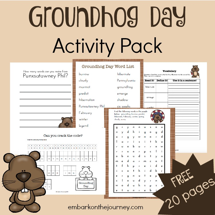 FREE Groundhog Day Pack – Groundhog Day Math Worksheets