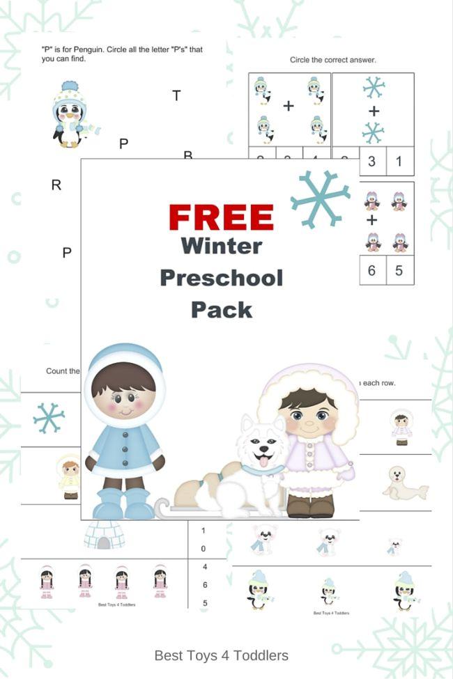 Free Winter Prek Pack Free Homeschool Deals