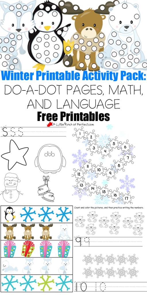 free 30 page winter printables pack free homeschool deals. Black Bedroom Furniture Sets. Home Design Ideas