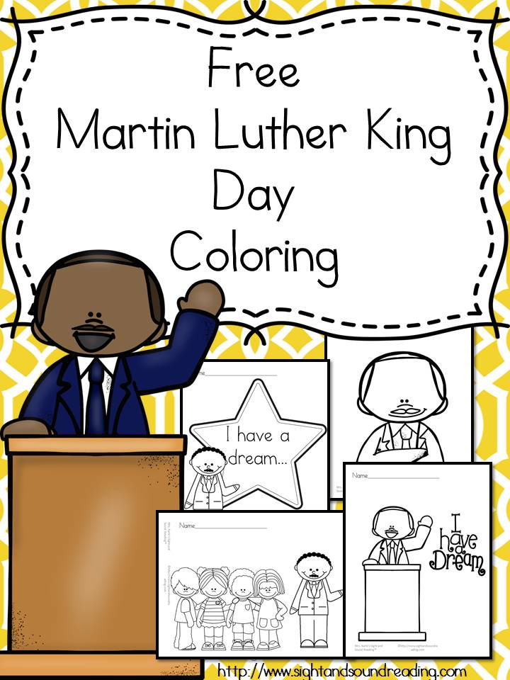 free mlk pages - Martin Luther King Jr Coloring Pages