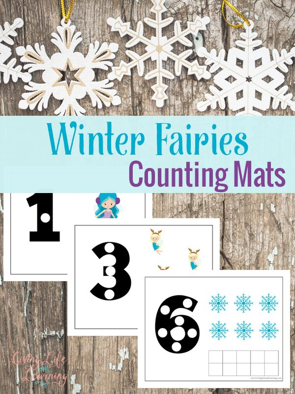 Free Winter Fairy Counting Mats Free Homeschool Deals