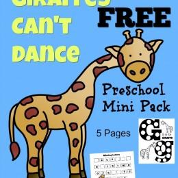 FREE Giraffes Can't Dance Mini Preschool Pack