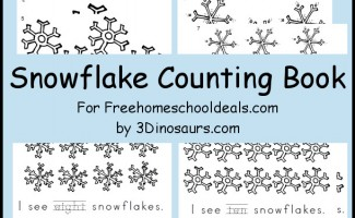 FREE Snowflake Counting Book